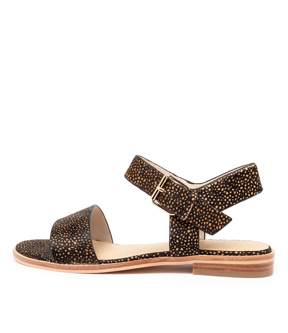 Buy Nude Tallow Nu Black Spot Flat Sandals online with free shipping