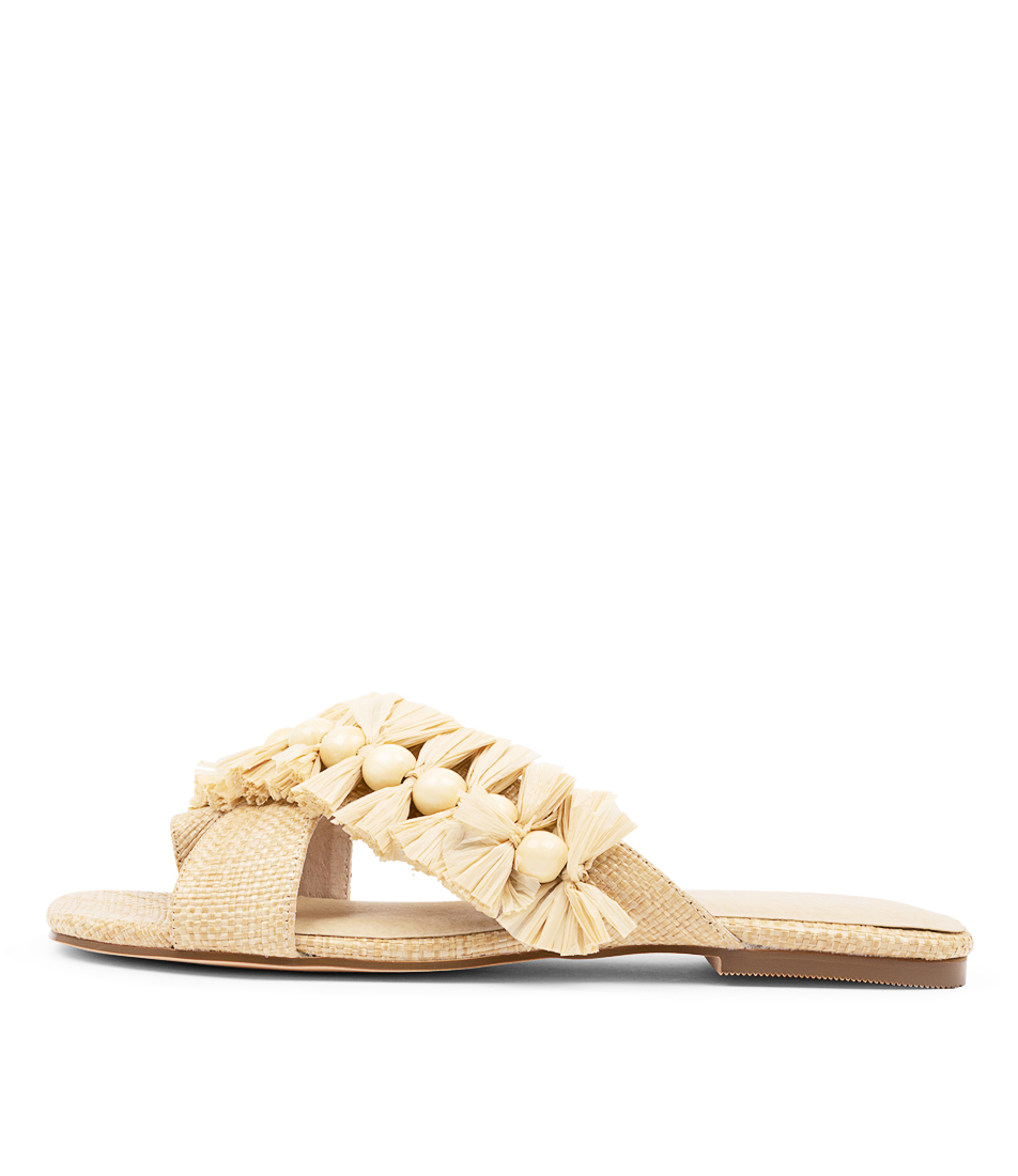 Buy Nude Zula Nu Natural Flat Sandals online with free shipping