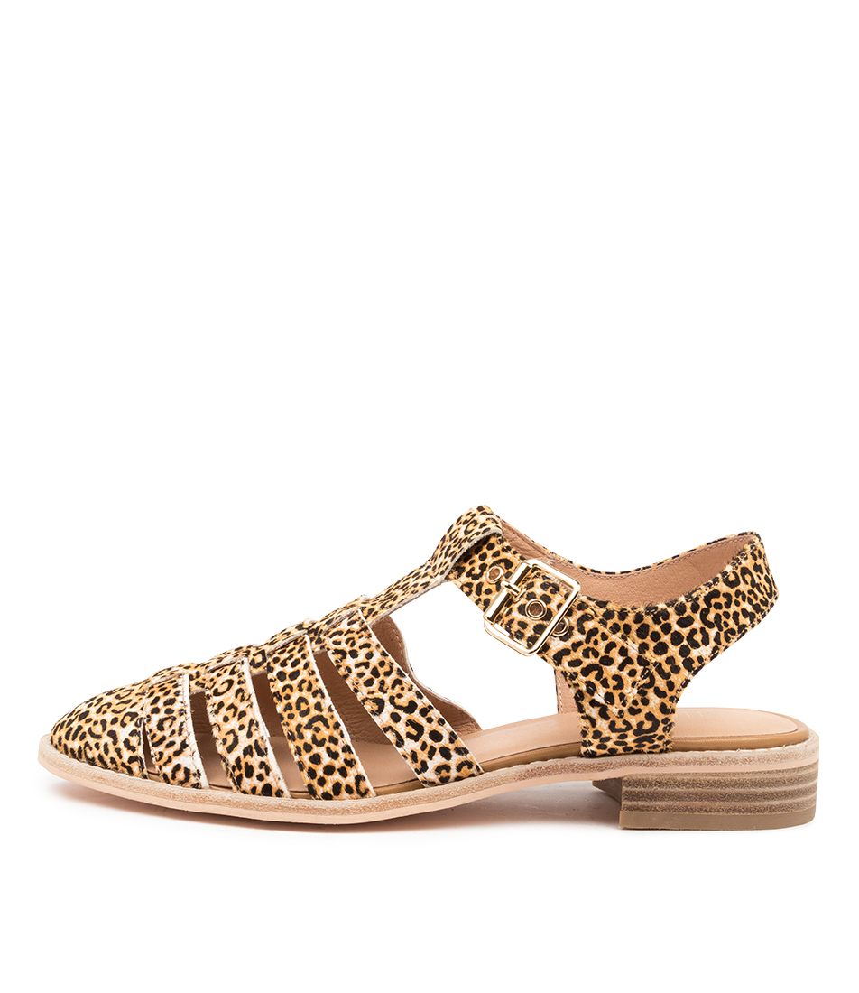 Buy Nude Kahlo Nu Leopard Flats online with free shipping