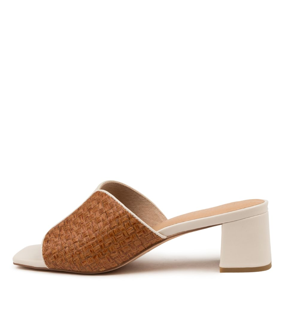 Buy Nude Ava Nu Cream Tan Heeled Sandals online with free shipping