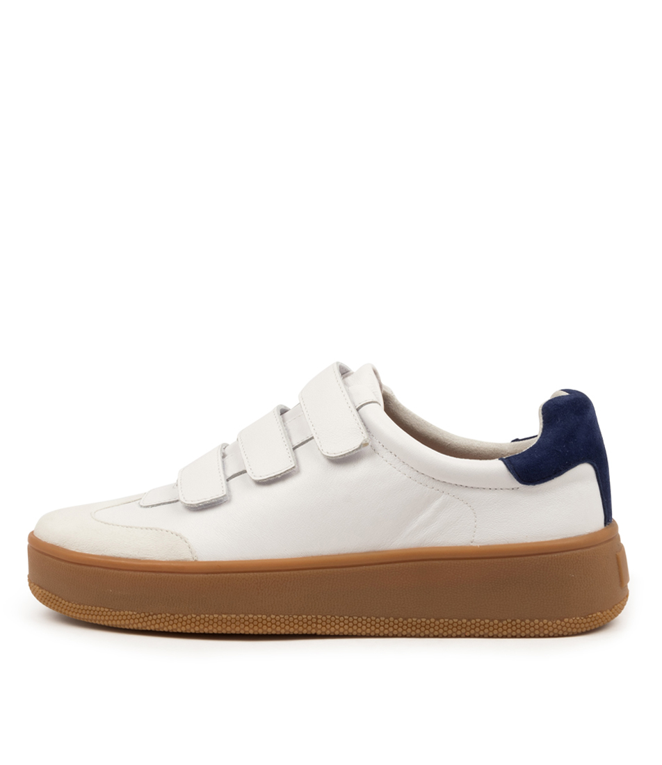 Buy Nude Emma Nu White Navy Sneakers online with free shipping