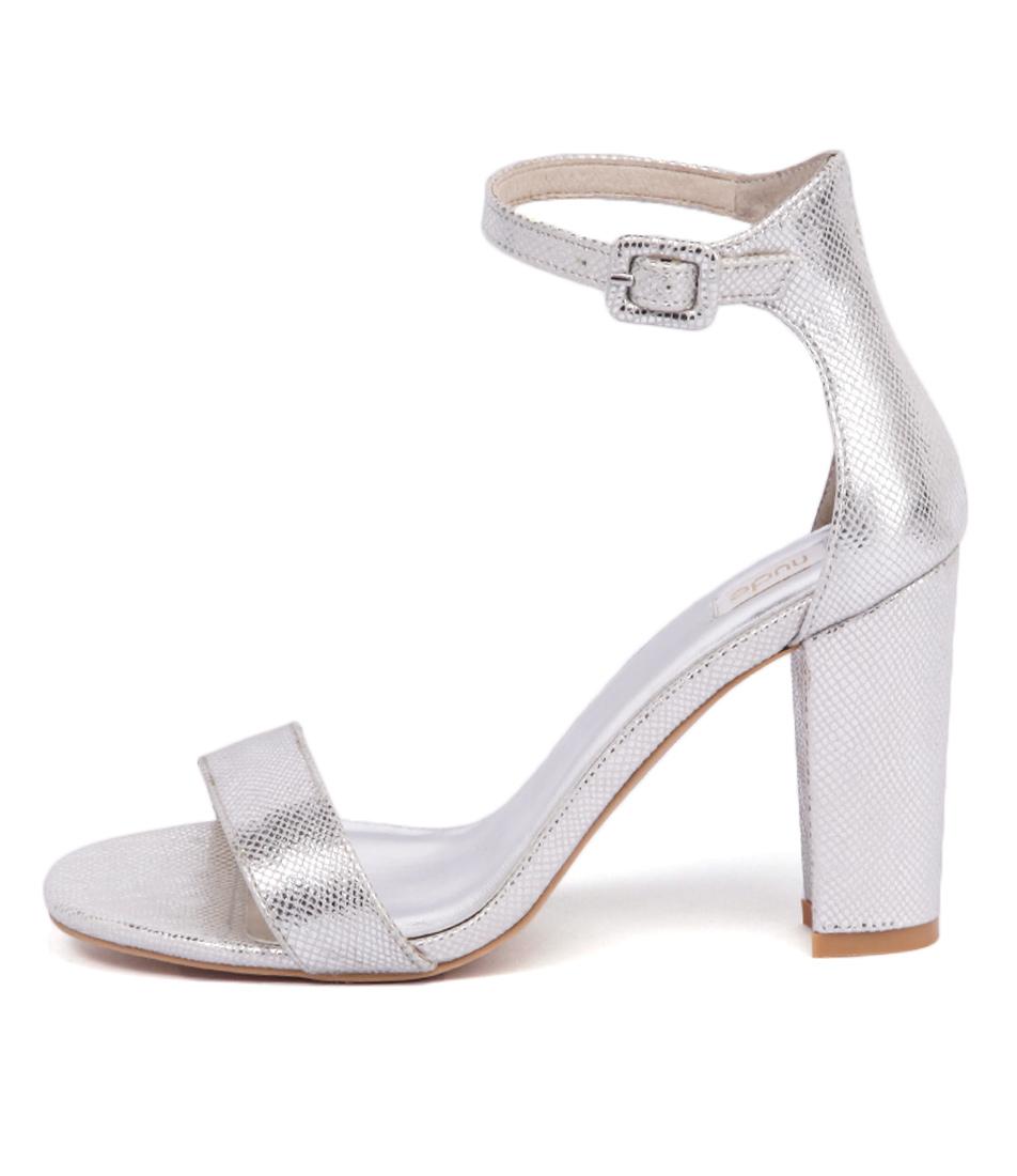 Nude Dakota Nu Silver Reptile Sandals