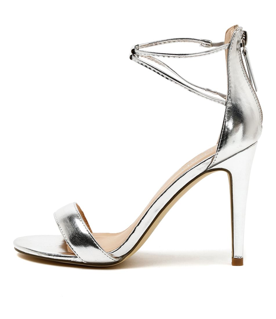Verali Odyssey Silver Dress Heeled Sandals