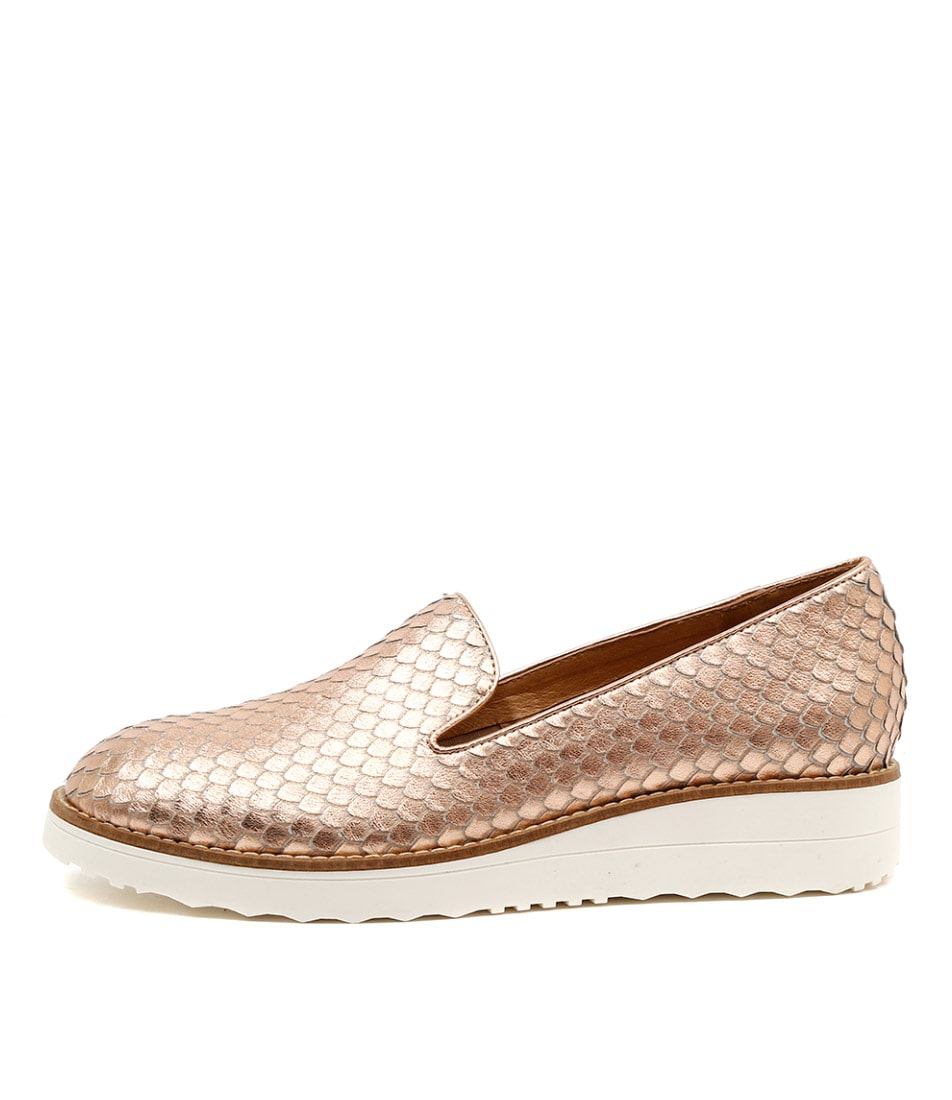 Top End Olus Rose Gold Casual Flat Shoes