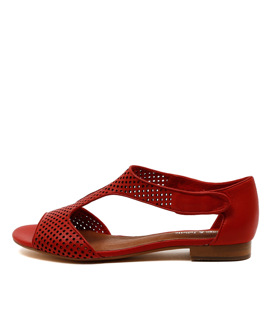 Django & Juliette Paiges Red Casual Flat Sandals