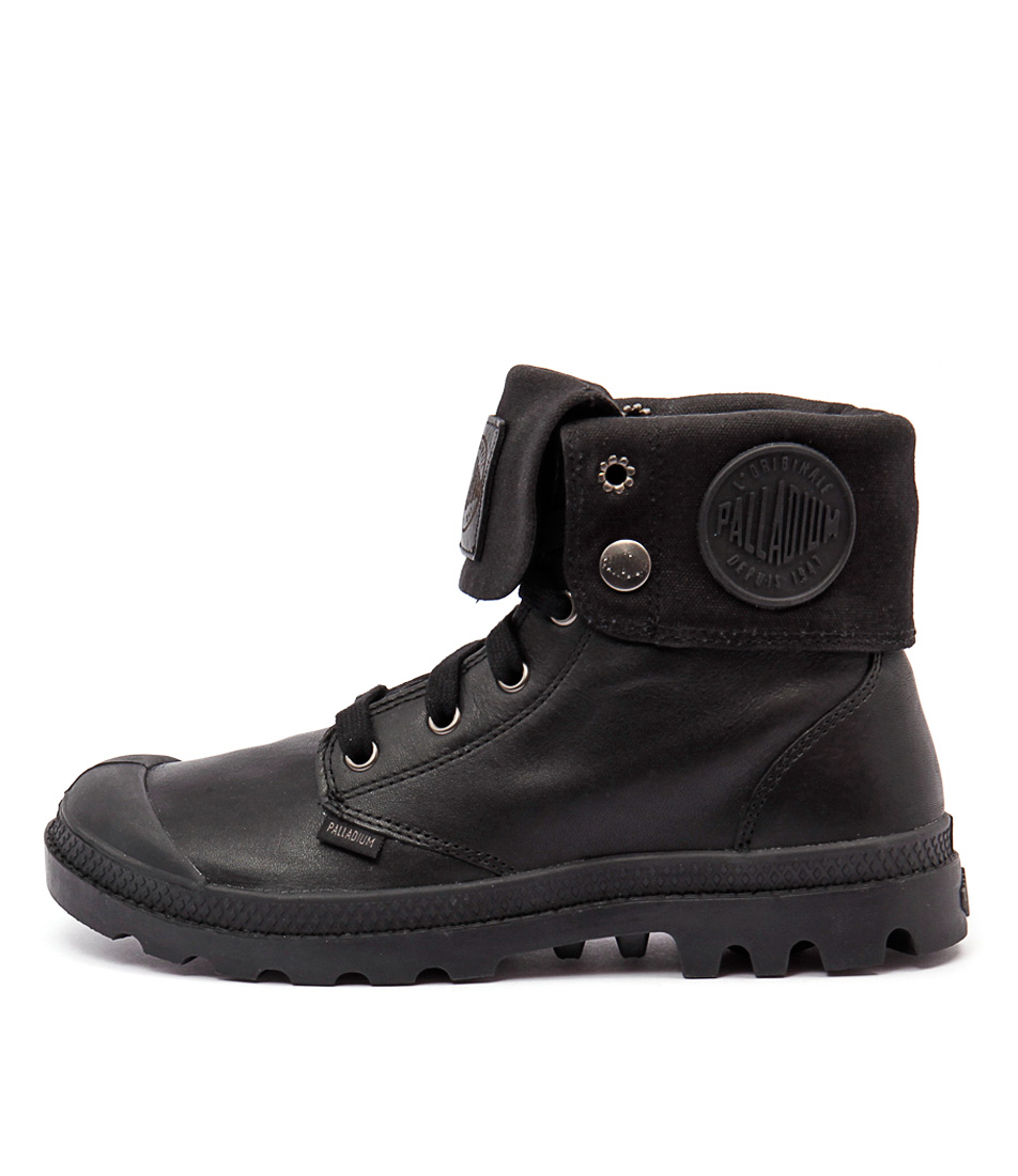 Palladium Baggy Leather W Black Ankle Boots