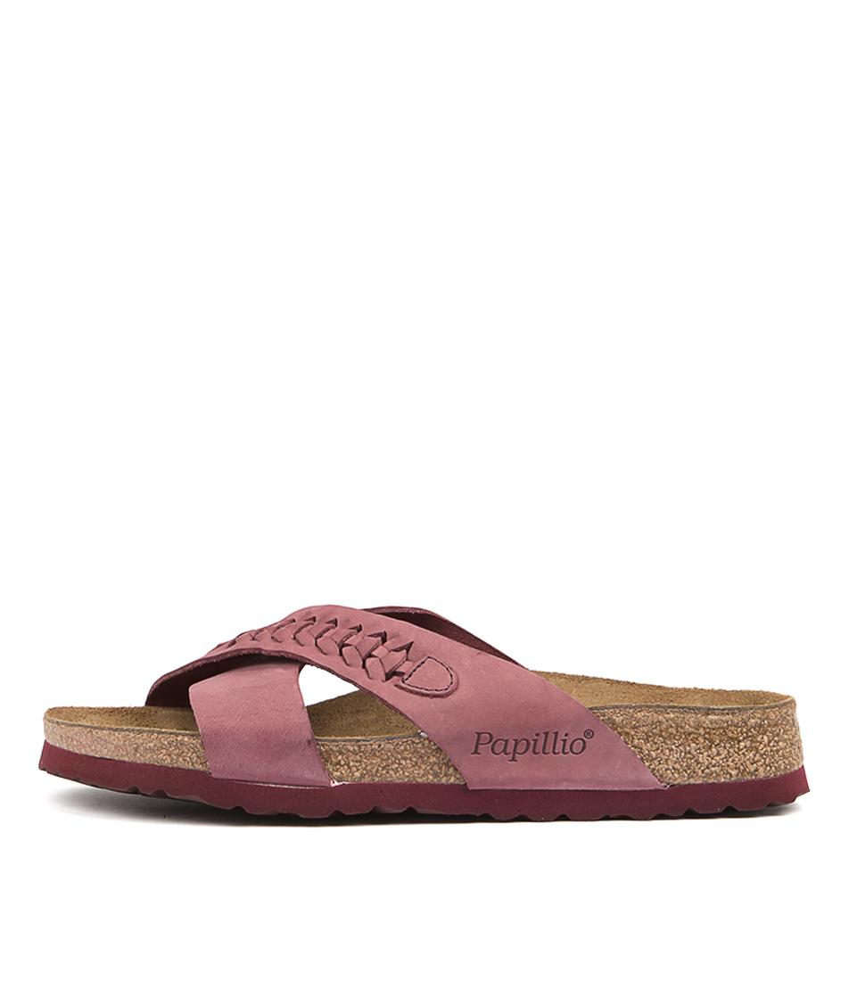 Papillio By Birkenstock Daytona Pb Woven Wine Sandals
