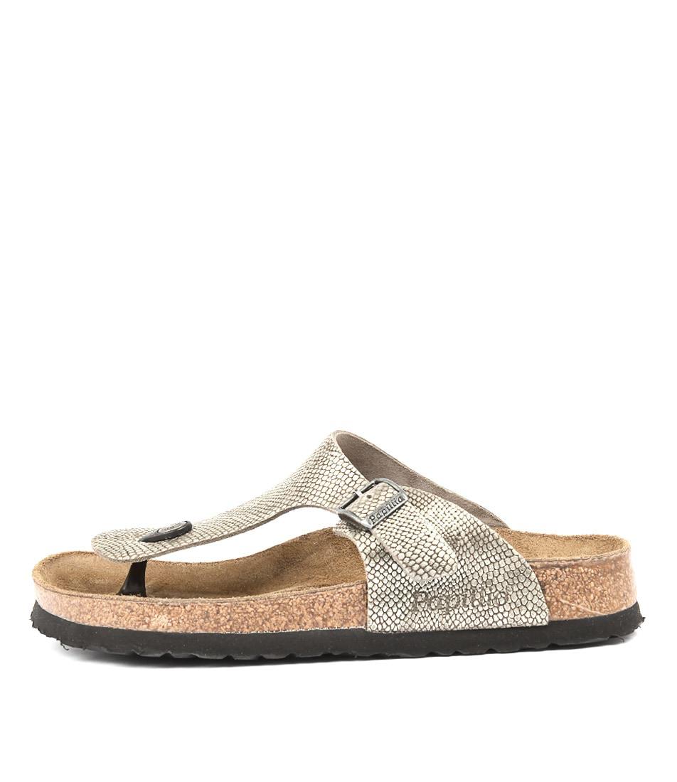 Papillio By Birkenstock Gizeh Grey Python Sandals