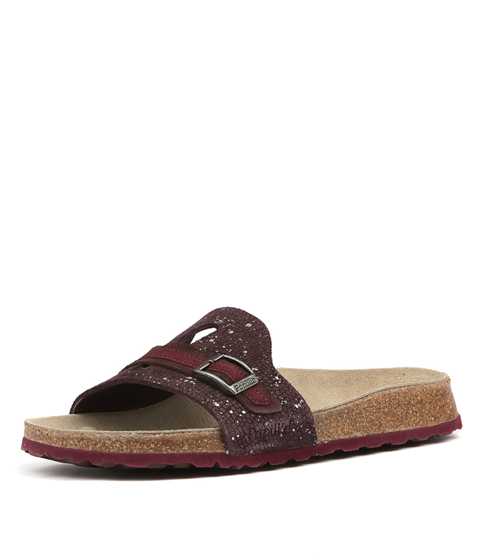 Papillio By Birkenstock Carmen Pb Wine Silver Spl Sandals