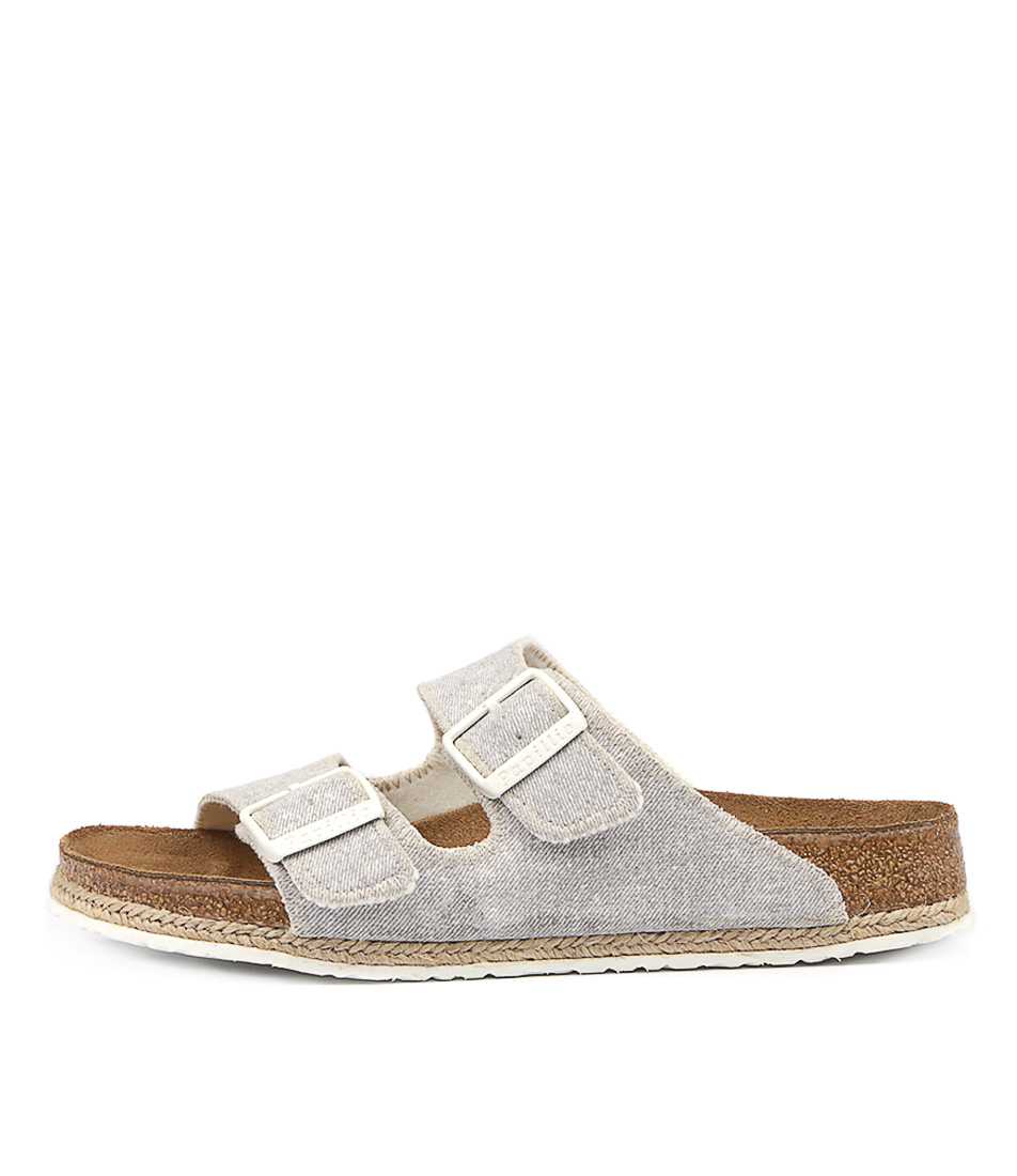 Papillio By Birkenstock Arizona Bf Beach Narrow Grey Sandals Womens Shoes Flat Sandals