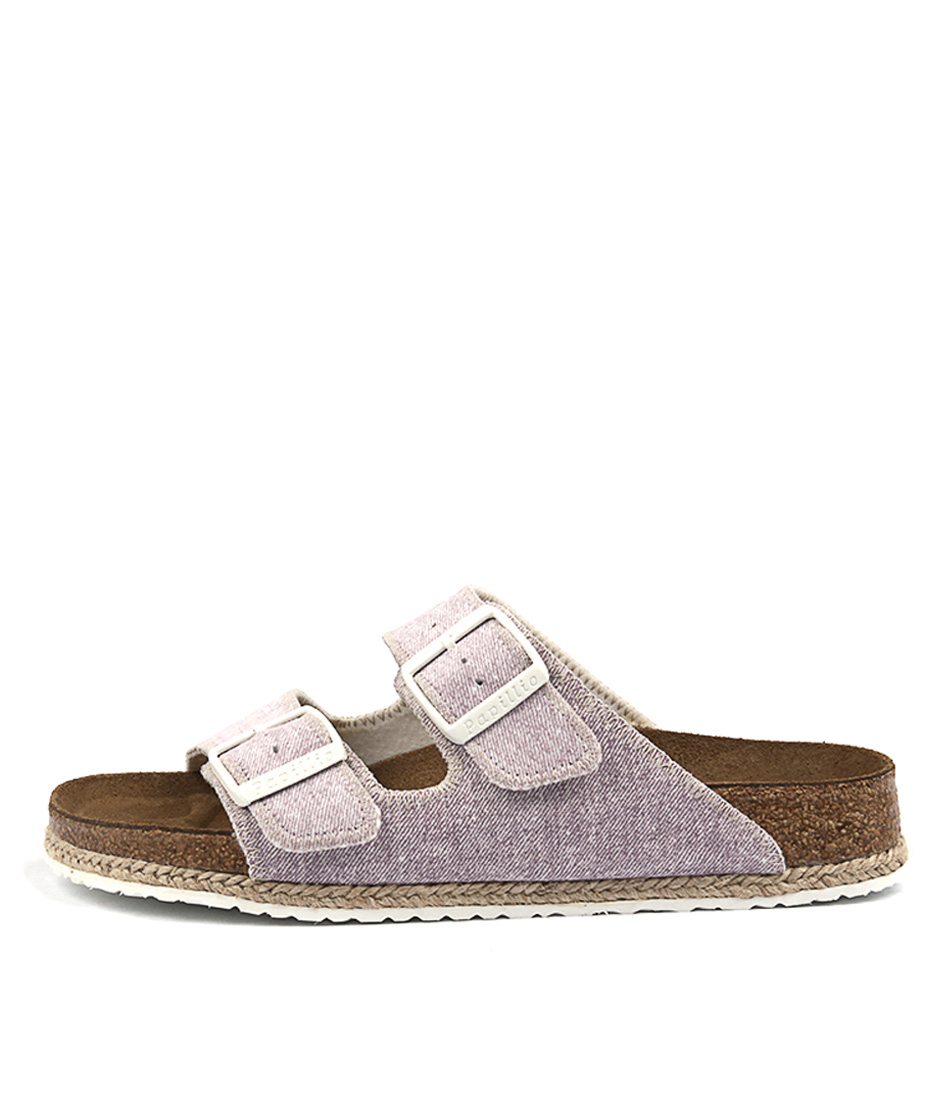 Papillio By Birkenstock Arizona Bf Beach Narrow Purple Sandals Womens Shoes Flat Sandals
