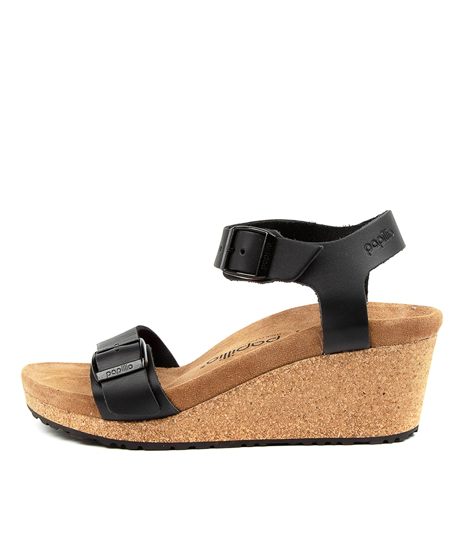 Buy Papillio By Birkenstock Soley Sl W Pb Black Heeled Sandals online with free shipping