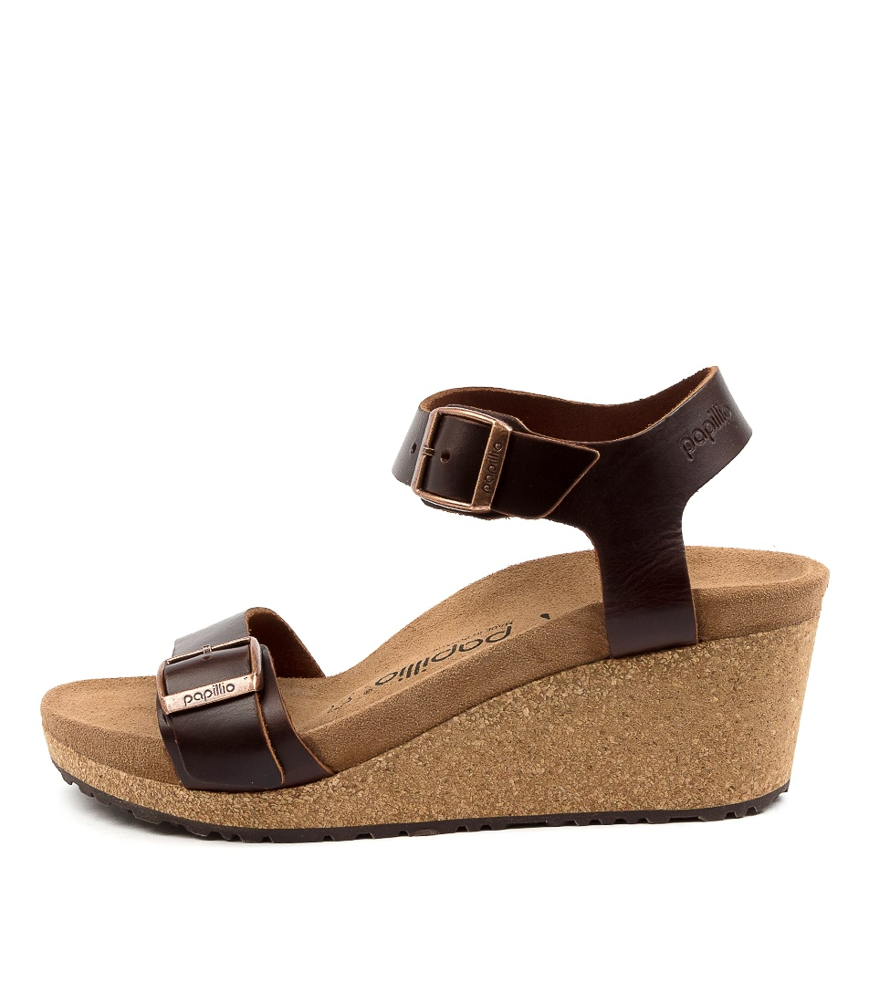 Buy Papillio By Birkenstock Soley Sl W Pb Cognac Heeled Sandals online with free shipping