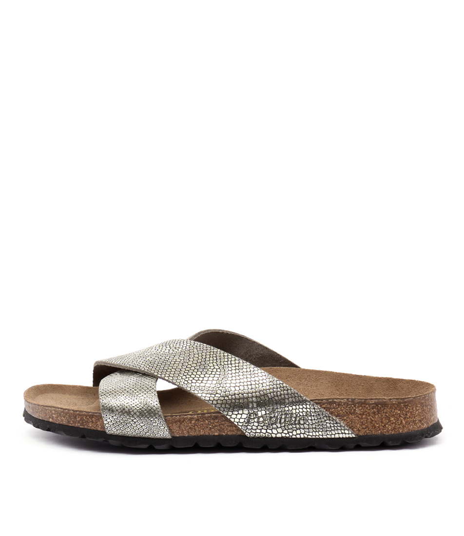 Papillio By Birkenstock Daytona Pb Grey Python Casual Flat Sandals