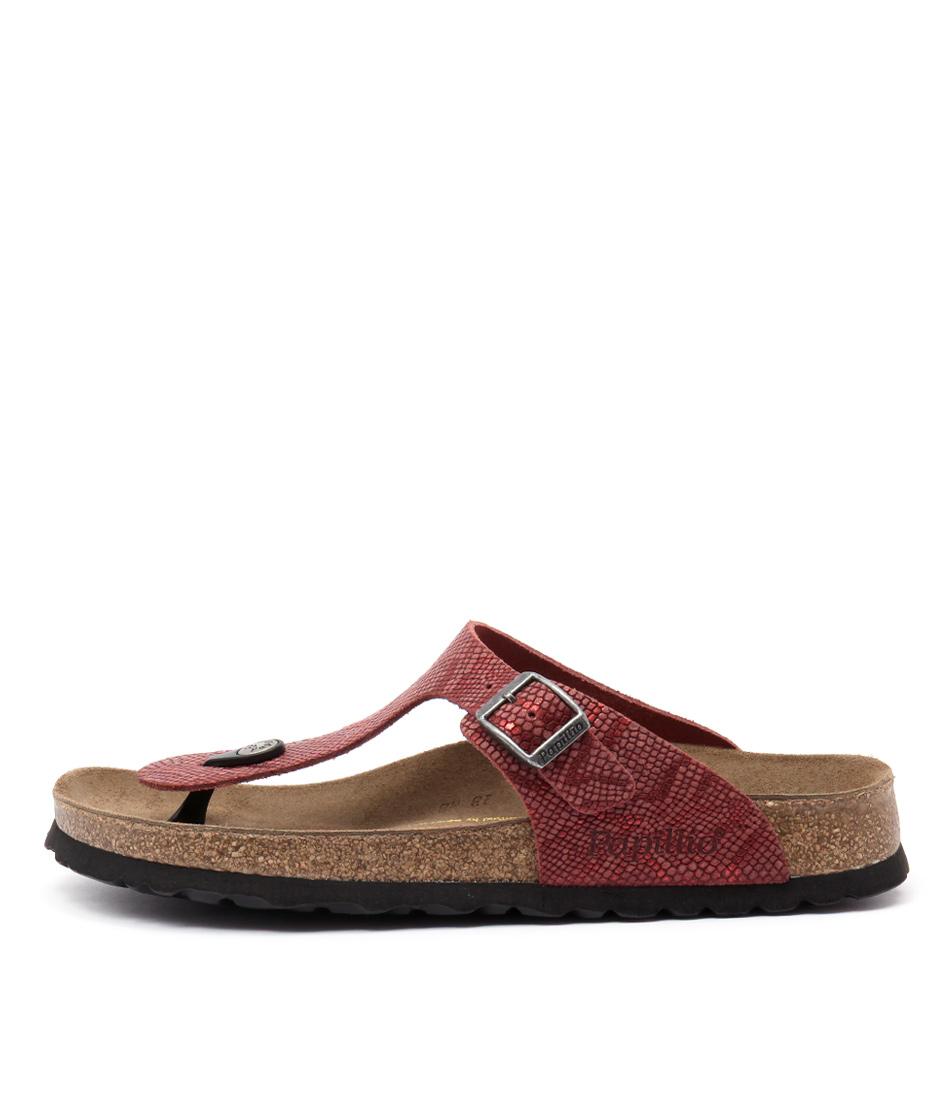 Papillio By Birkenstock Gizeh Red Python Sandals