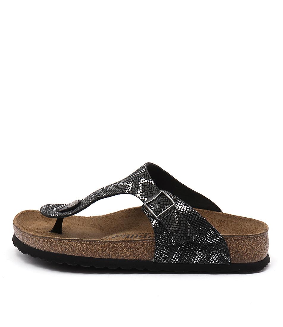 Papillio By Birkenstock Gizeh Black Python Sandals