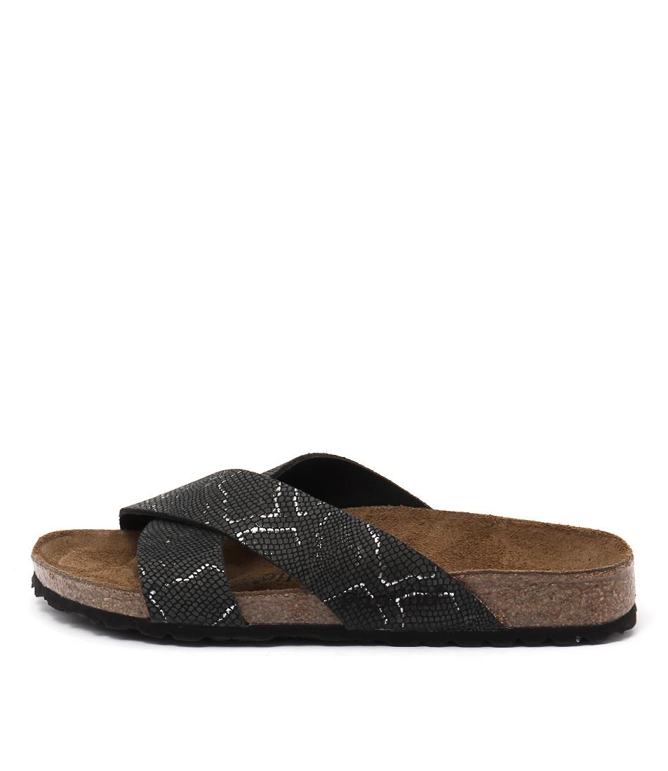 Papillio By Birkenstock Daytona Pb Black Python Sandals