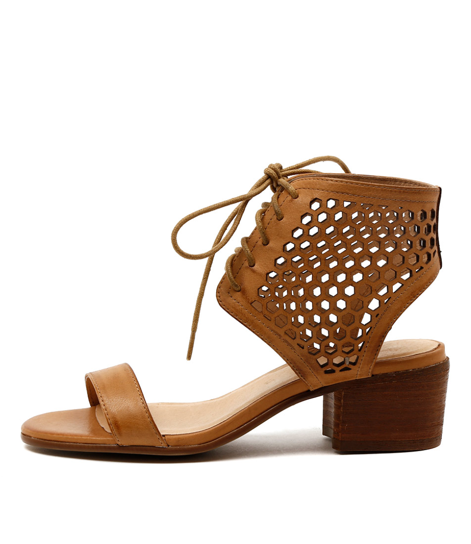 Silent D Pezza Tan Casual Heeled Sandals