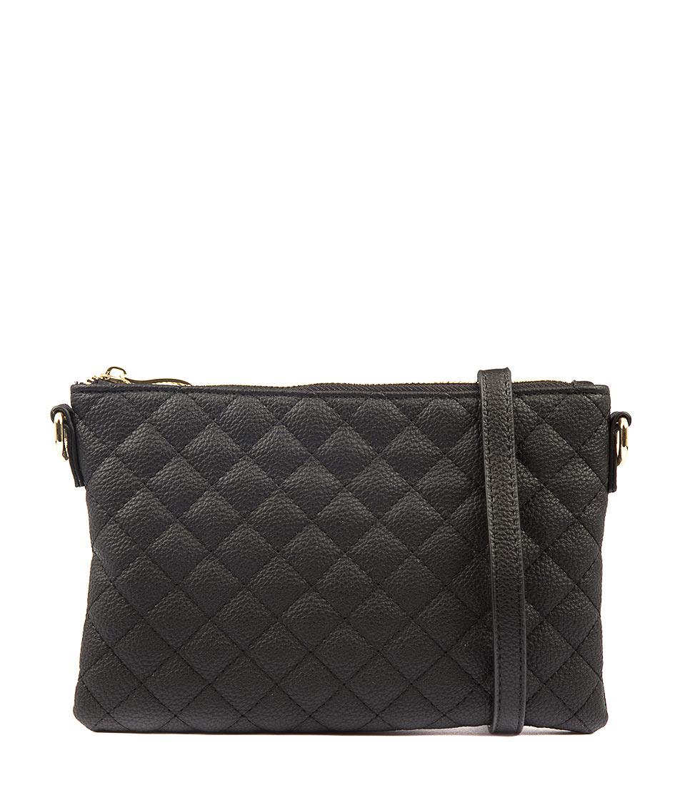 Peta & Jain Kourtney Q Black Bags Womens Shoes Casual Cross Body Bags