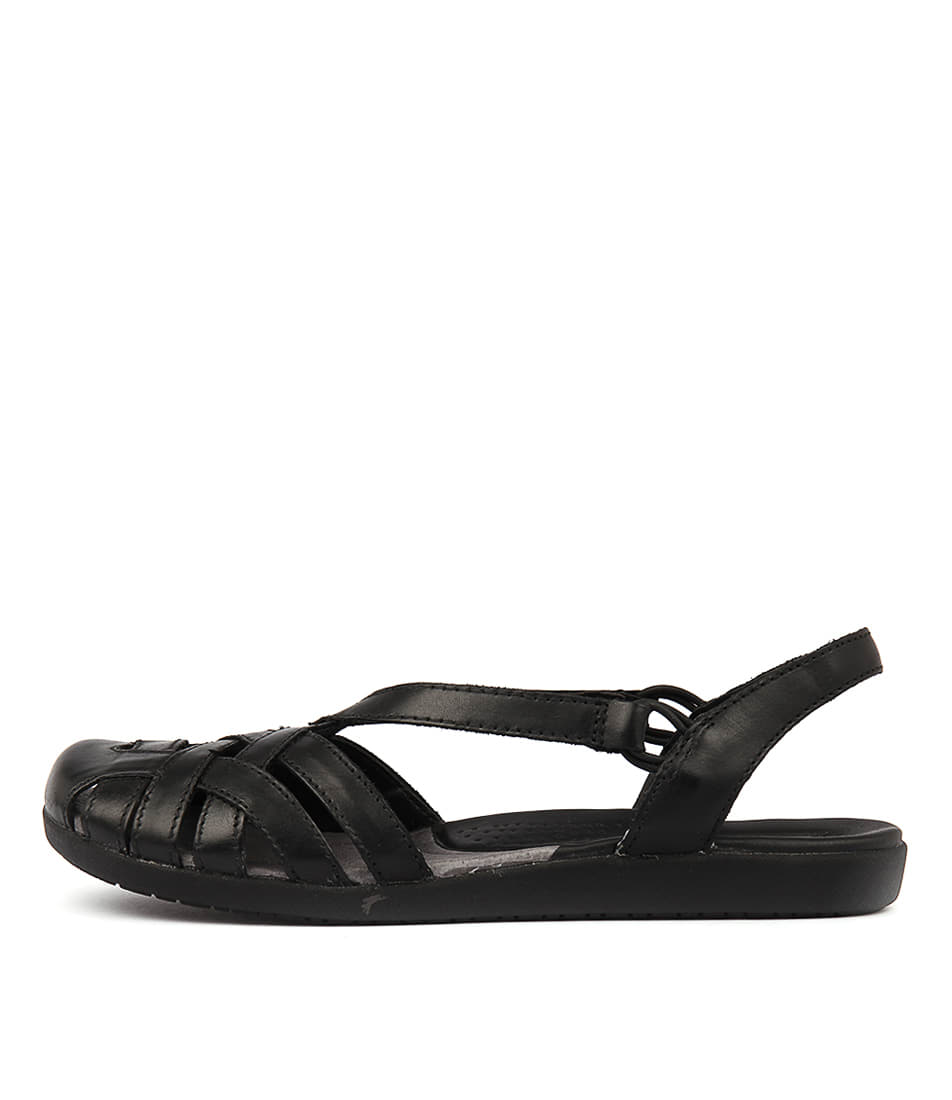 Buy Planet Bird Pl Black Flat Sandals online with free shipping