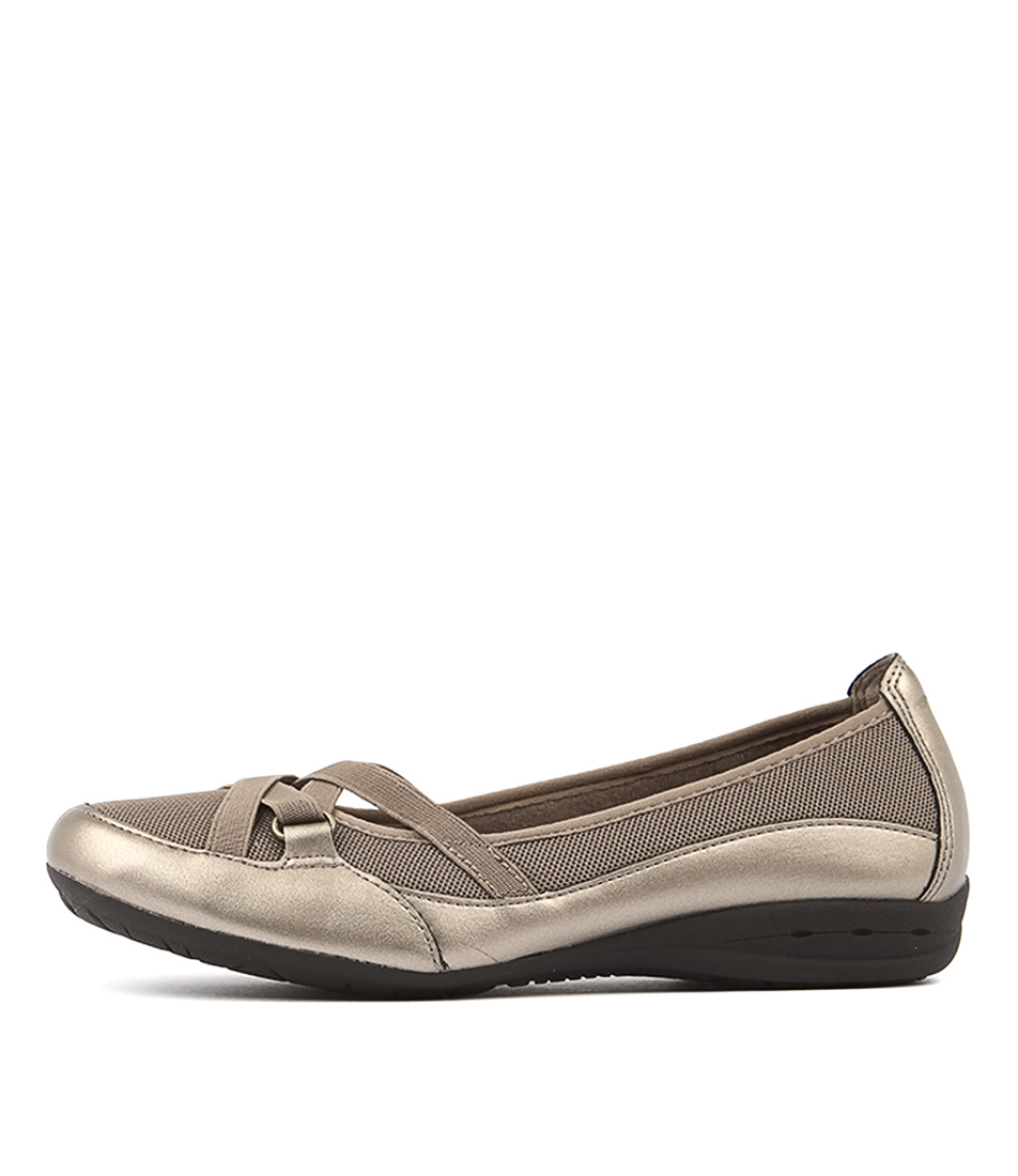 Planet Fergie Gold Flat Shoes