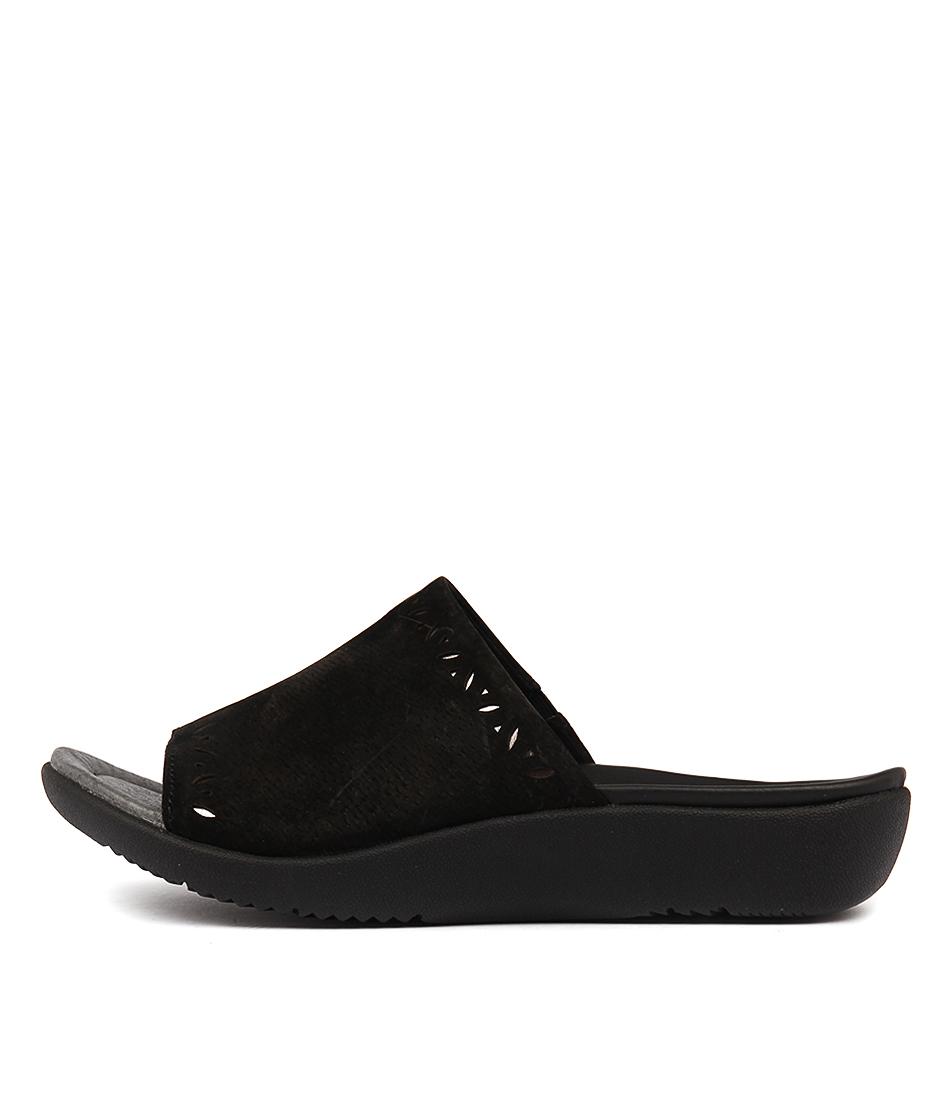 Planet Jazz Black Sandals