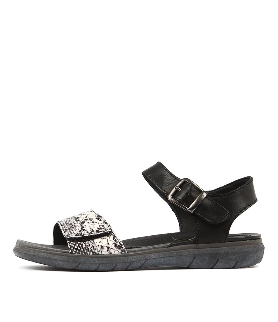 Planet Lou Black Multi Sandals