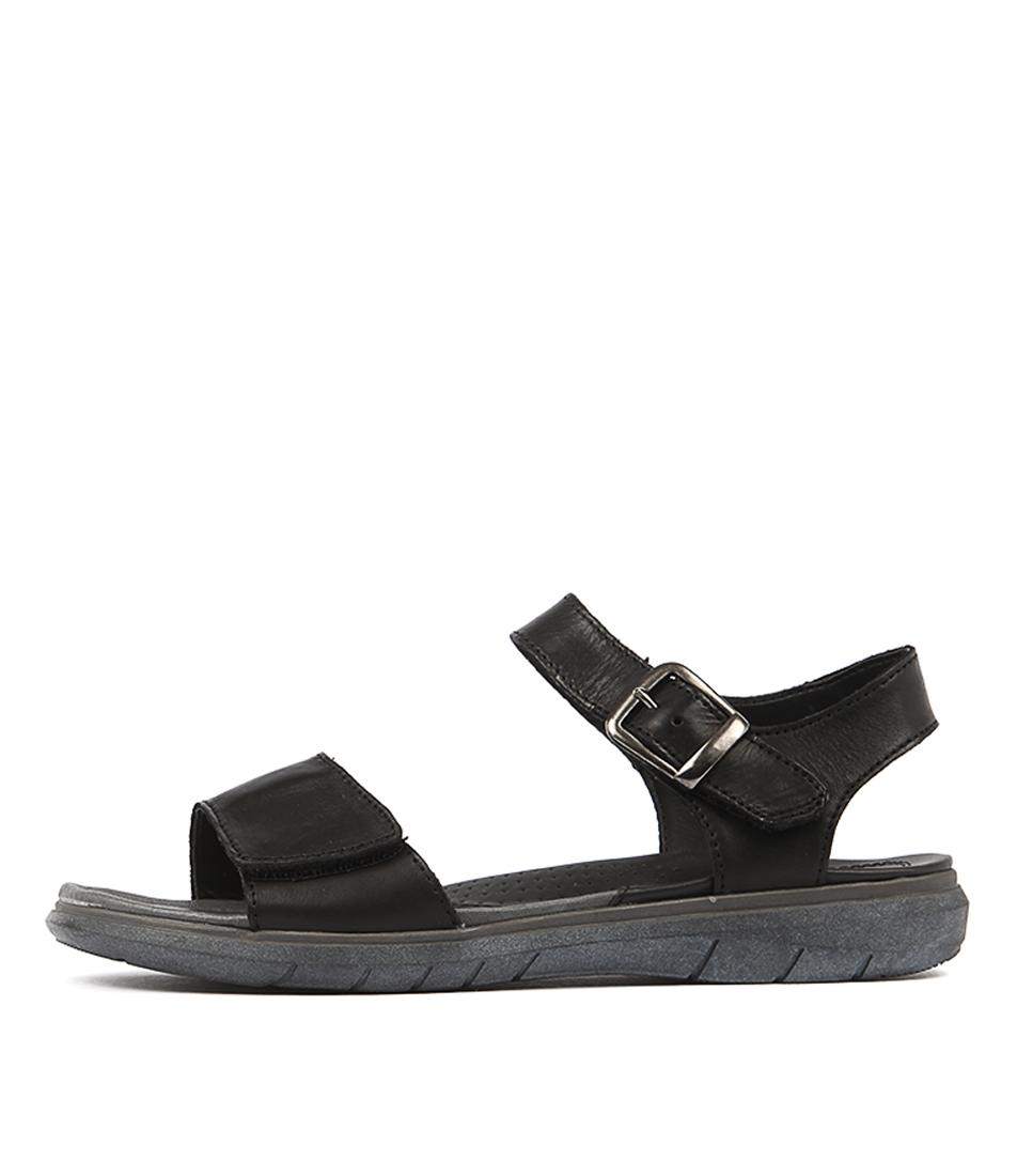 Planet Lou Black Sandals