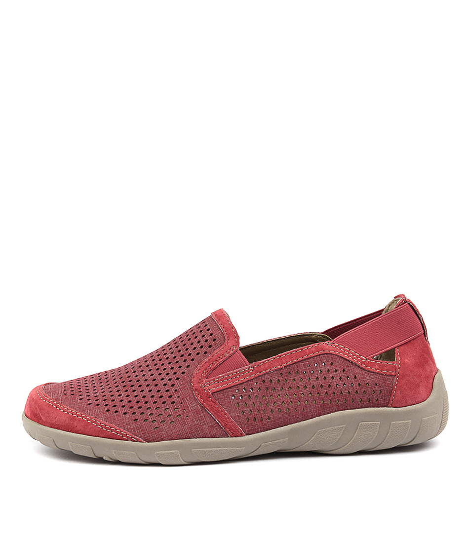 Planet Wet Red Flat Shoes