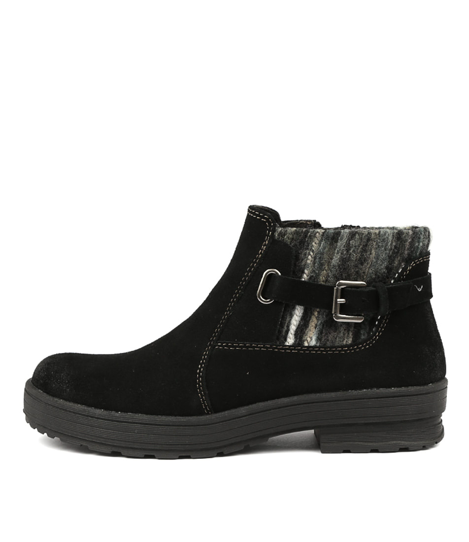 Buy Planet Plum Pl Black Ankle Boots online with free shipping
