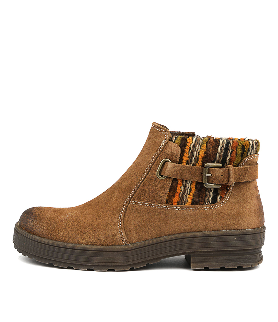 Buy Planet Plum Pl Carob Ankle Boots online with free shipping