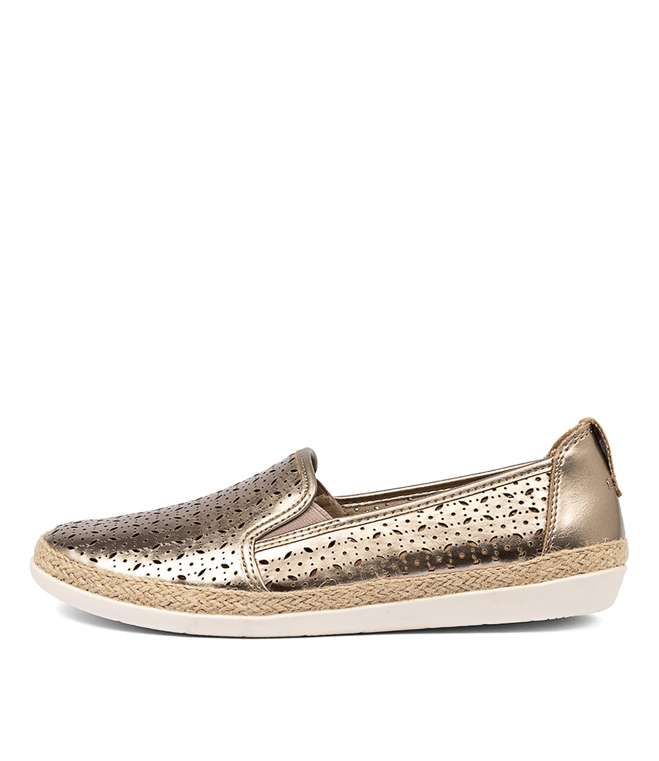 Buy Planet Kim Pl Gold Flats online with free shipping