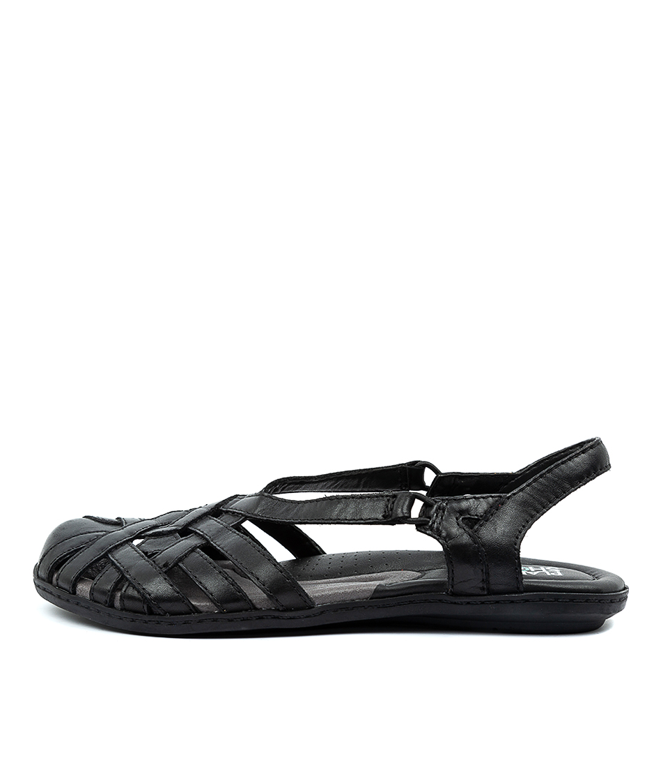 Buy Planet Christine Pl Black Flat Sandals online with free shipping