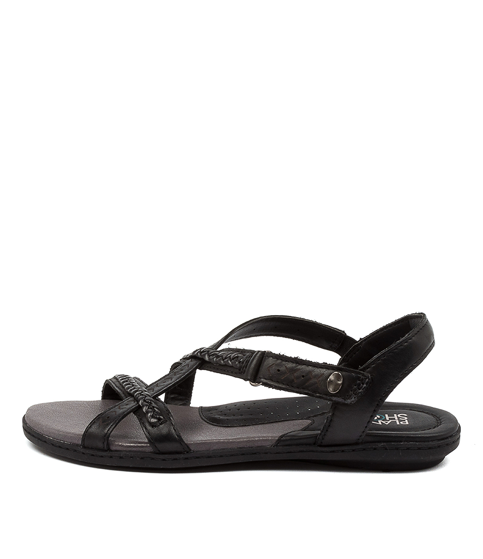 Buy Planet Cherie Pl Black Flat Sandals online with free shipping
