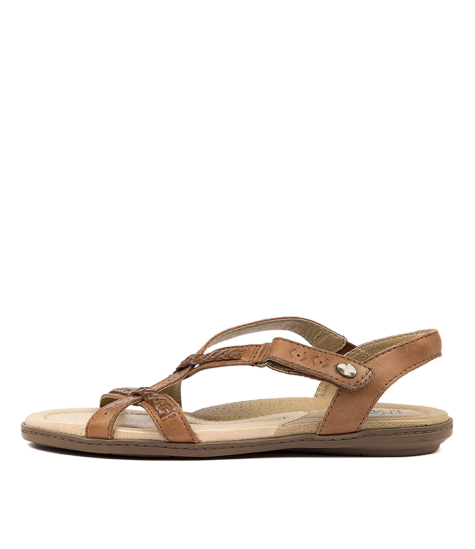 Buy Planet Cherie Pl Tan Flat Sandals online with free shipping