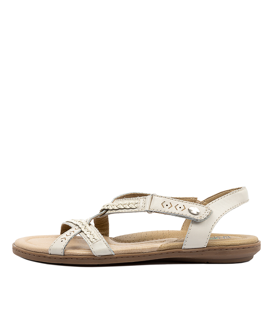 Buy Planet Cherie Pl White Flat Sandals online with free shipping
