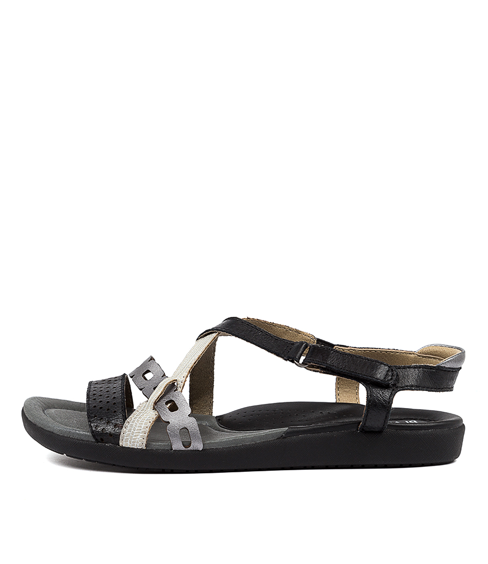 Buy Planet Breeze2 Pl Black Multi Sandals online with free shipping
