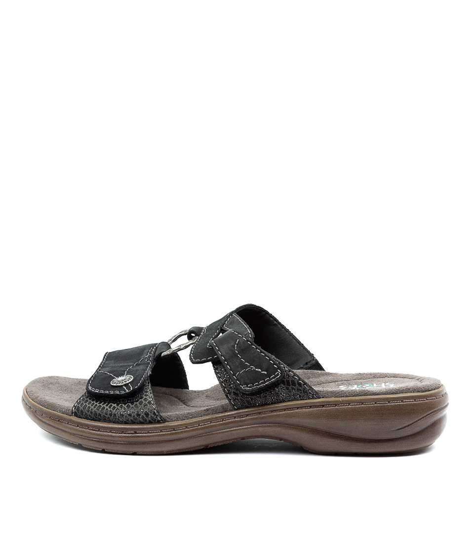 Buy Planet Debra Pl Black Flat Sandals online with free shipping