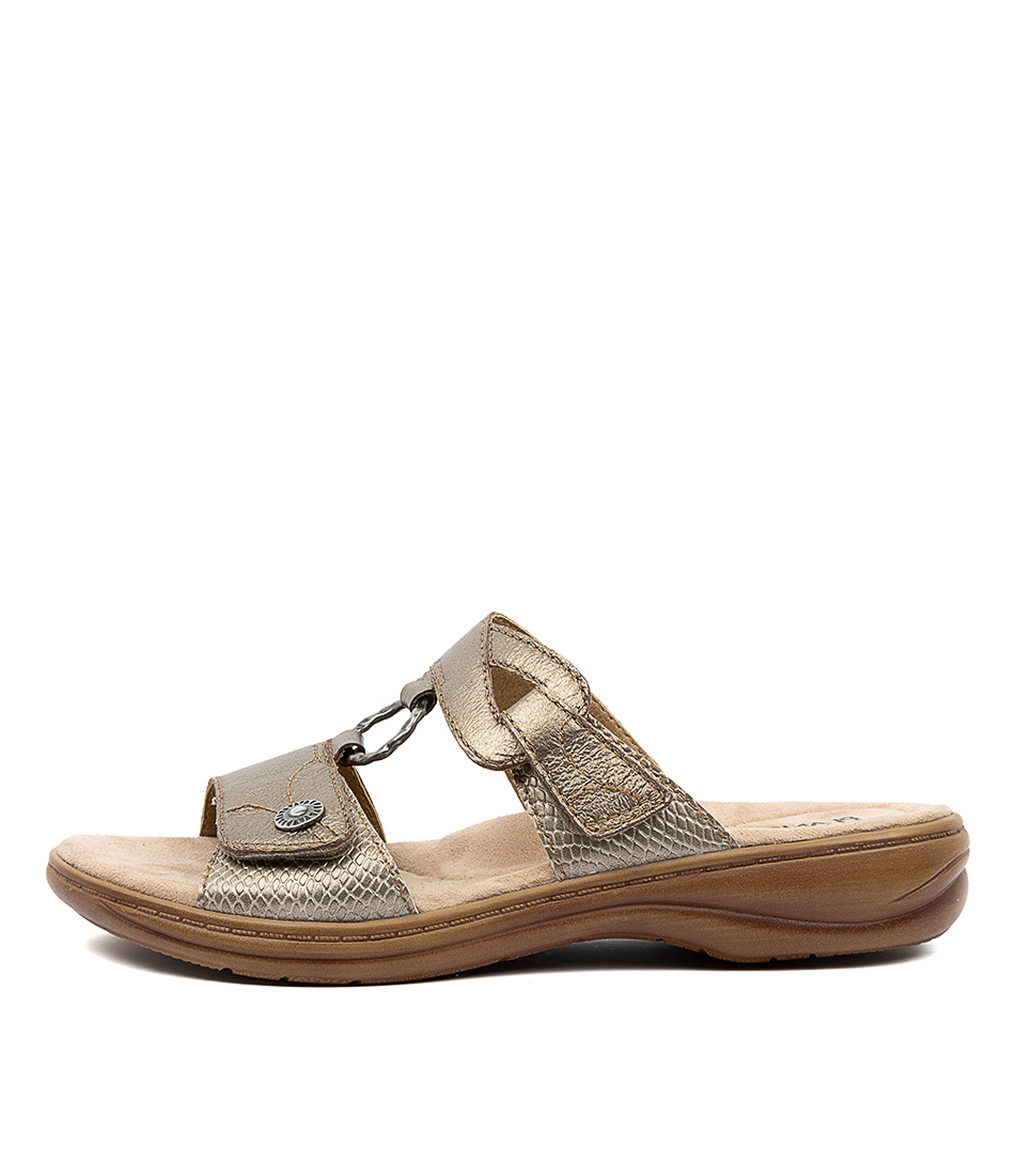 Buy Planet Debra Pl Platinum Flat Sandals online with free shipping