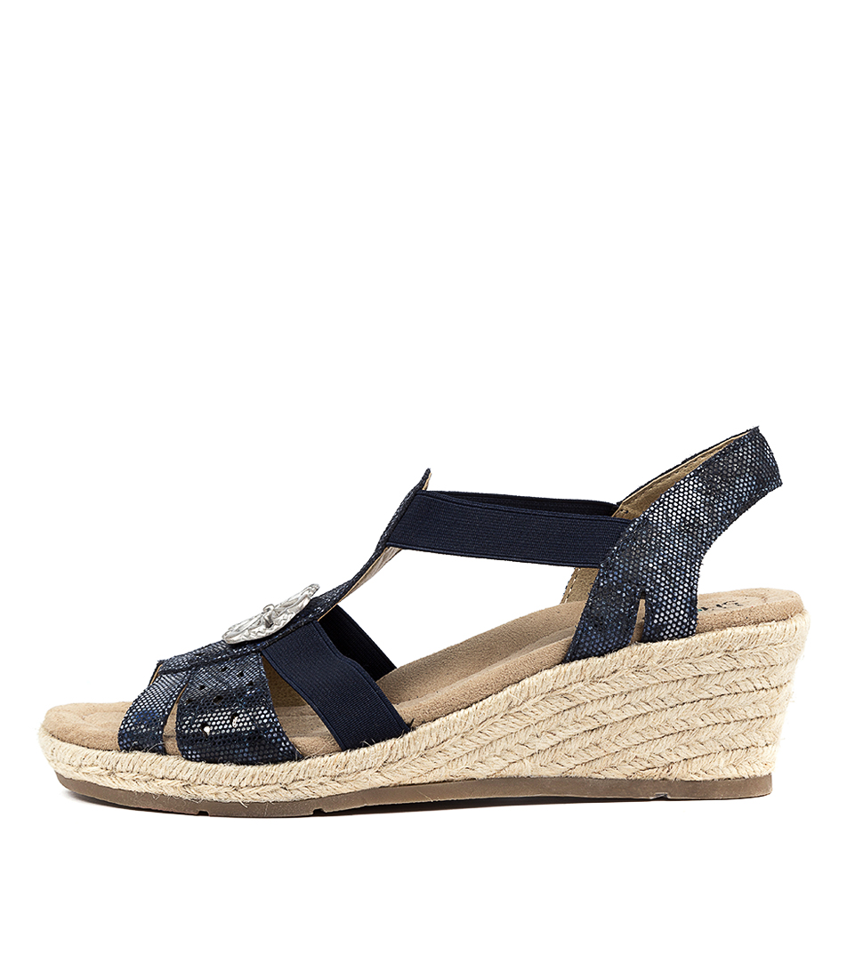 Buy Planet Jojo Pl Navy Heeled Sandals online with free shipping
