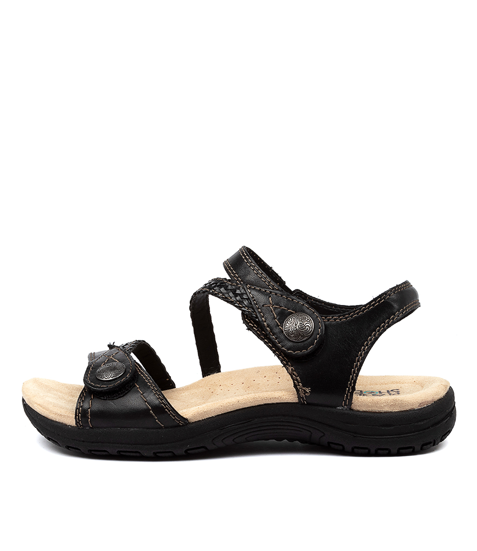 Buy Planet Crop Pl Black Sandals online with free shipping