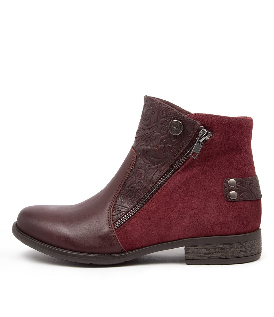 Buy Planet Ryde Pl Merlot Ankle Boots online with free shipping