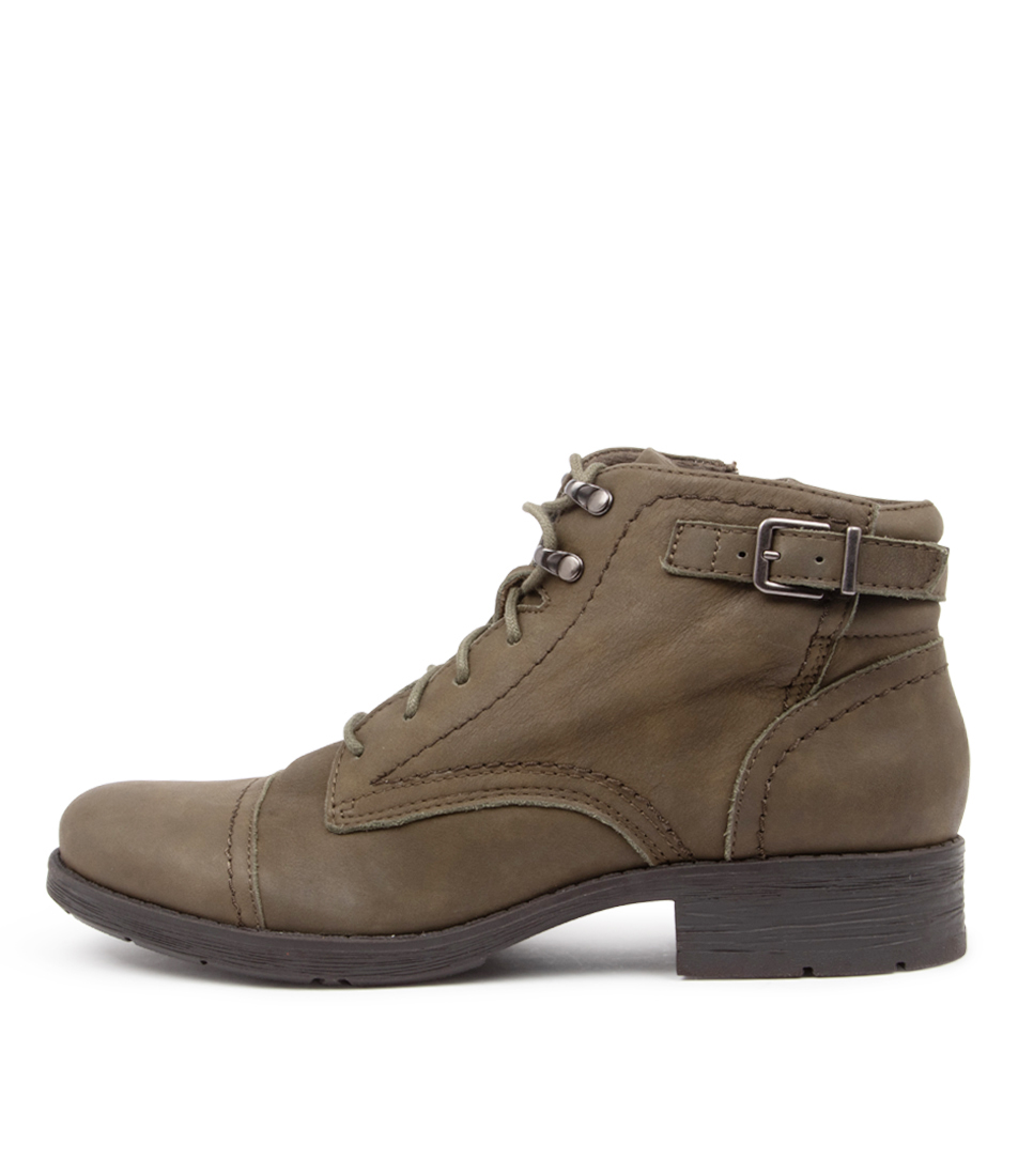 Buy Planet Melanie2 Pl Olive Ankle Boots online with free shipping