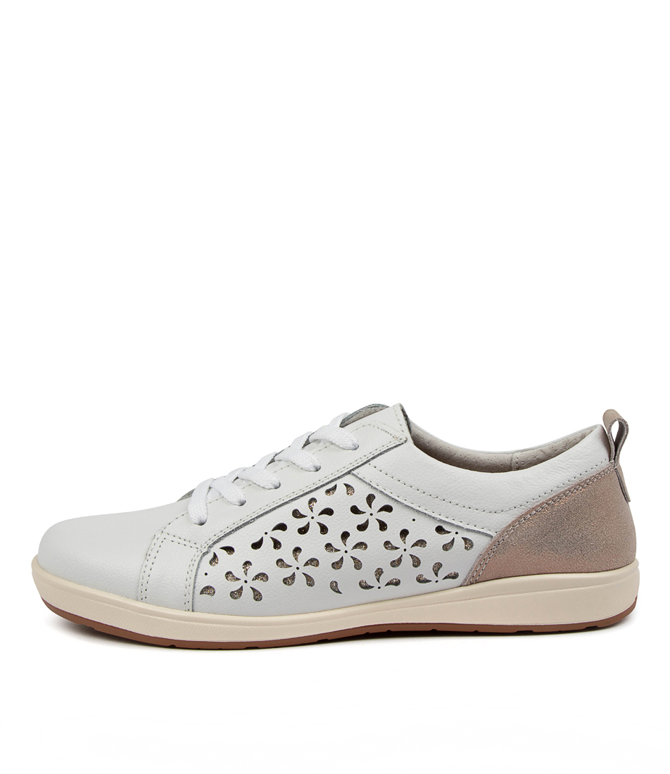 Buy Planet Whirl Pl White Gold Sneakers online with free shipping