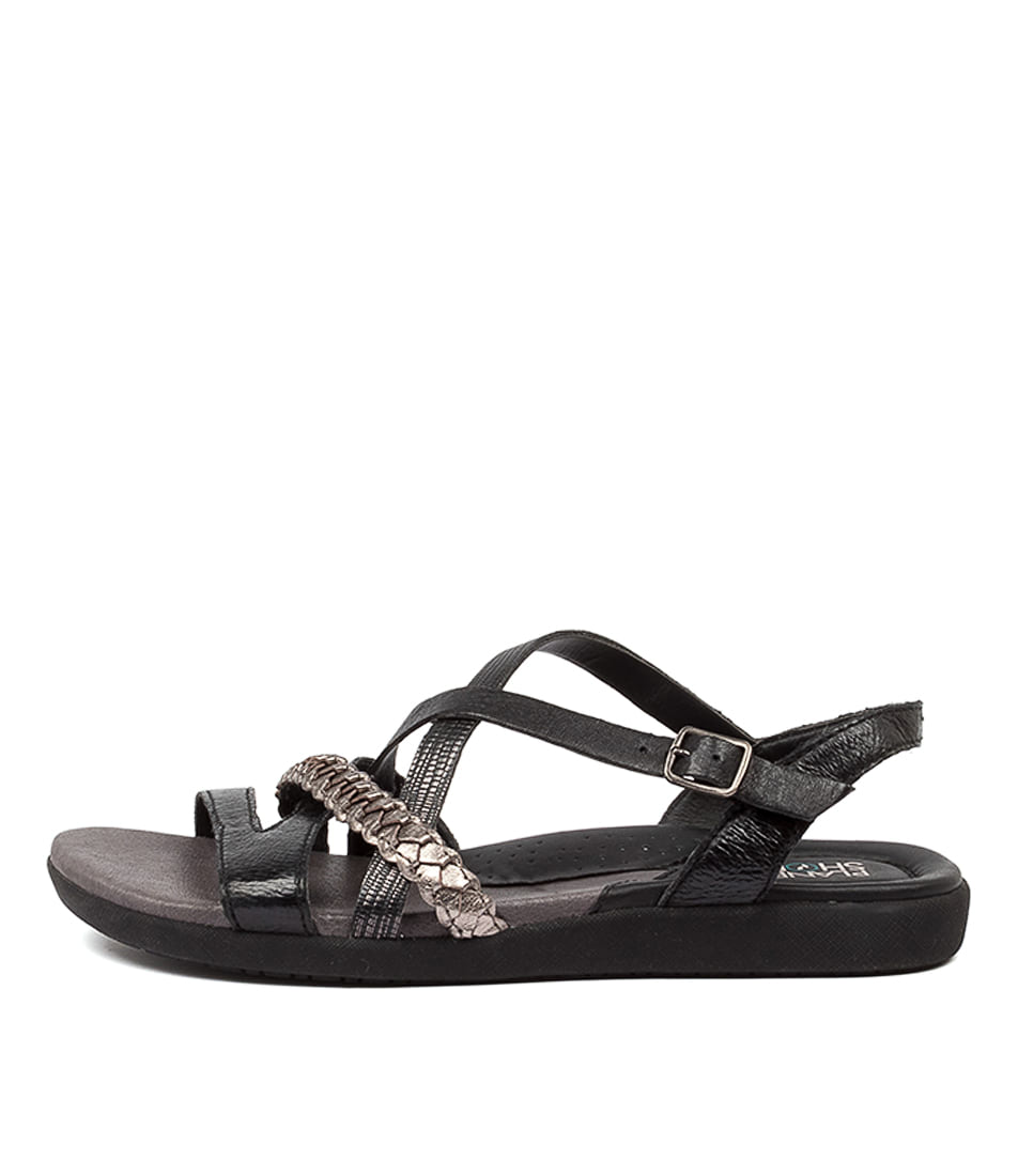 Buy Planet Bella Pl Black Flat Sandals online with free shipping