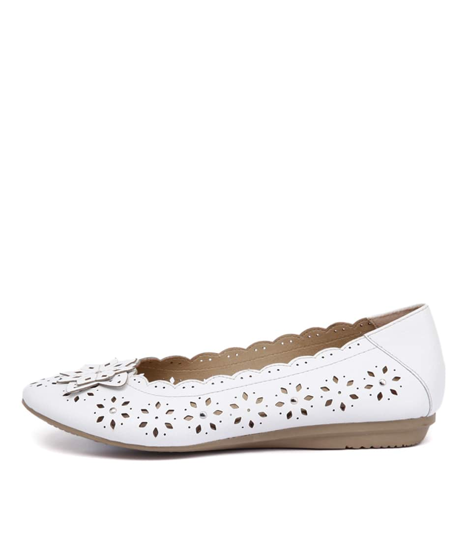 Planet Elate Pl White Flat Shoes