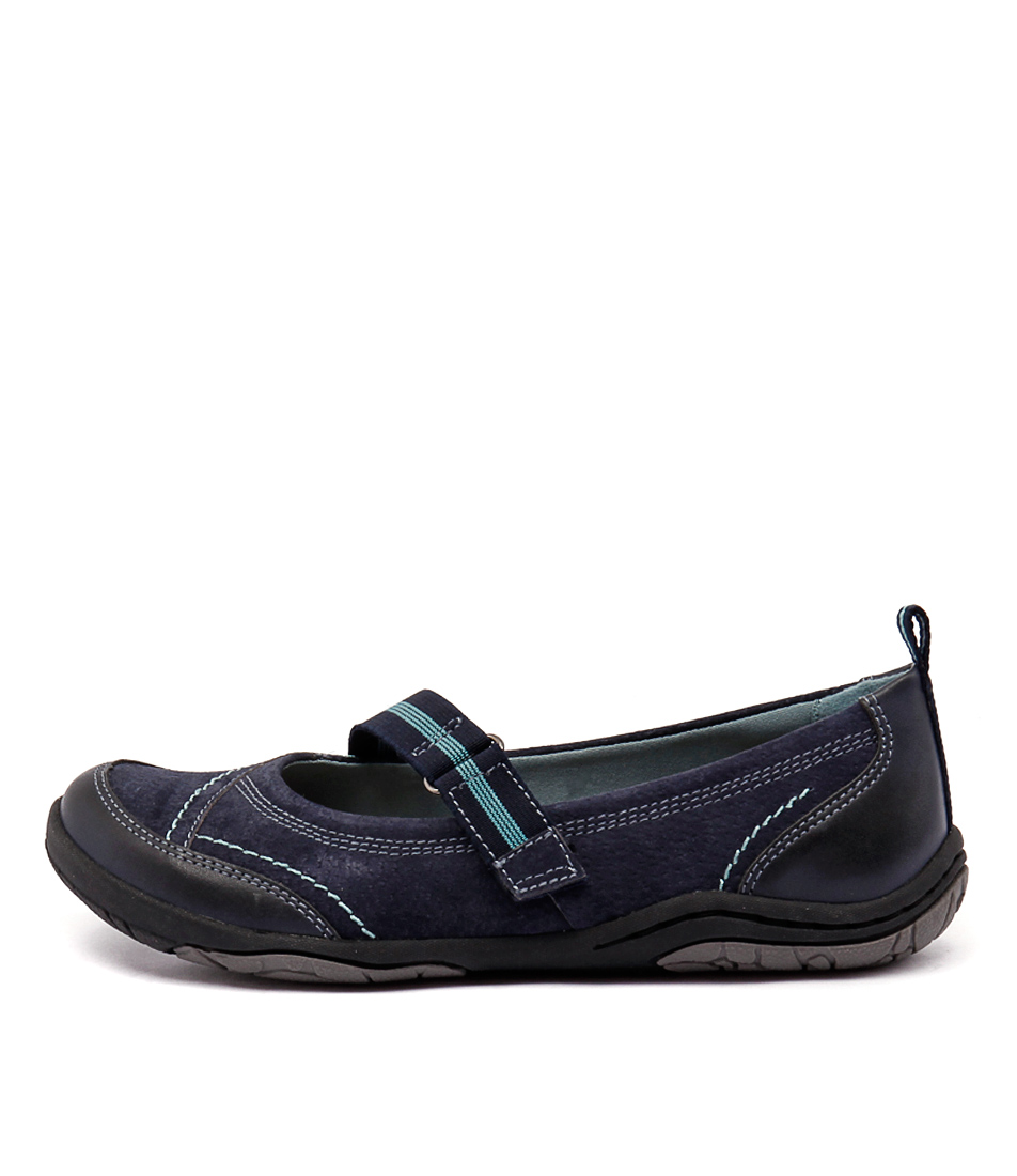 Planet Barika Pl Navy Flat Shoes