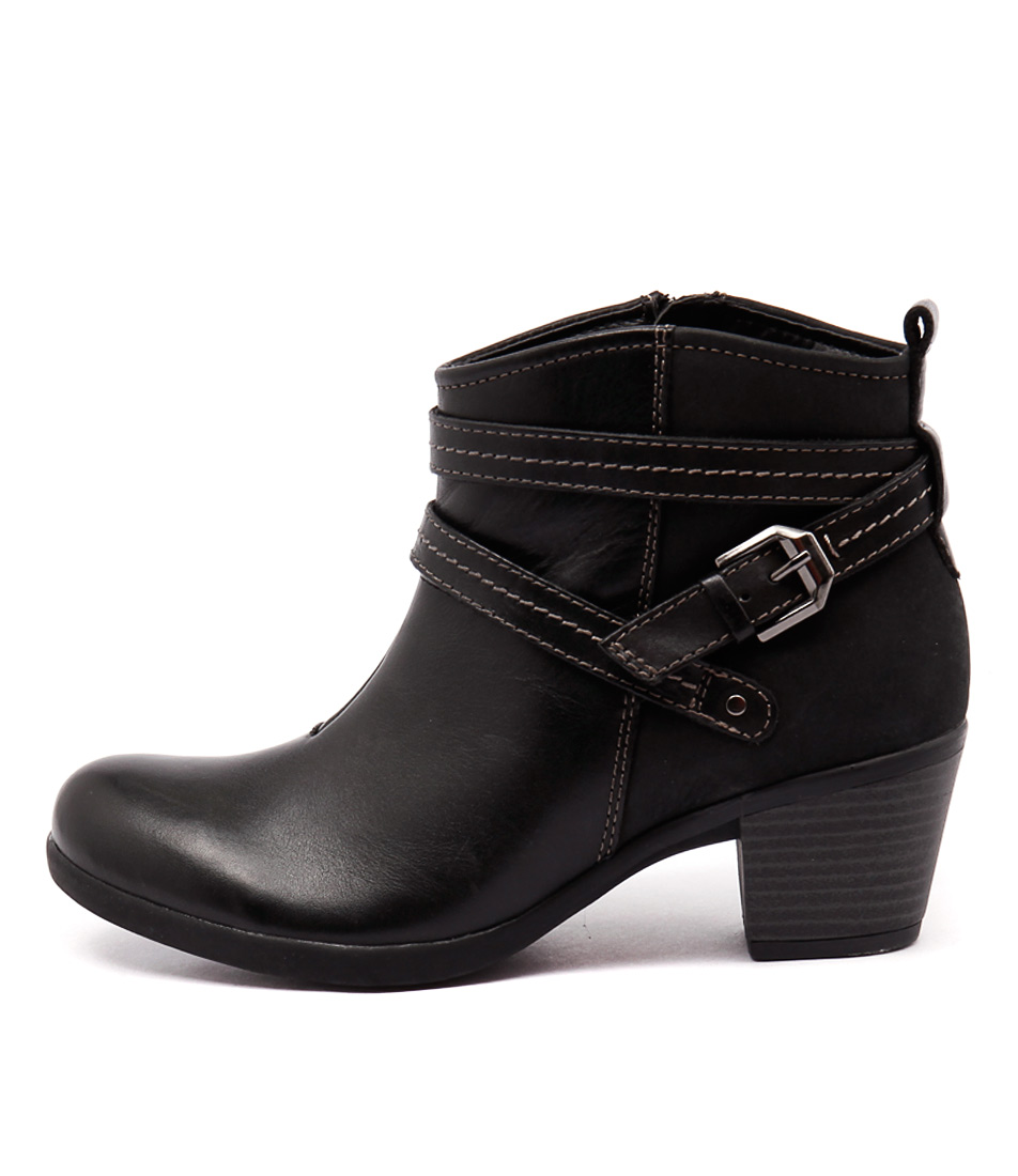 Planet Fefi Black Casual Ankle Boots