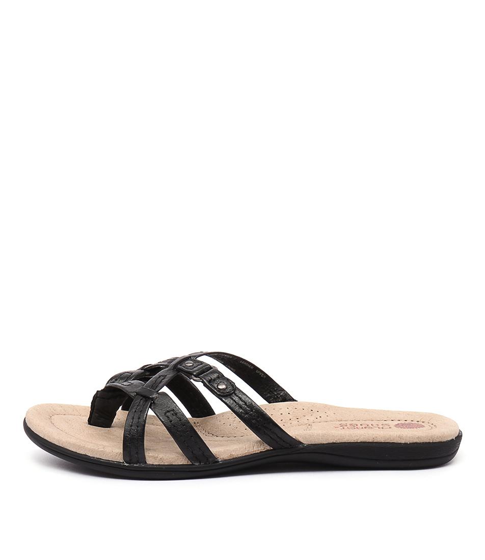Planet Carla Pl Black Sandals