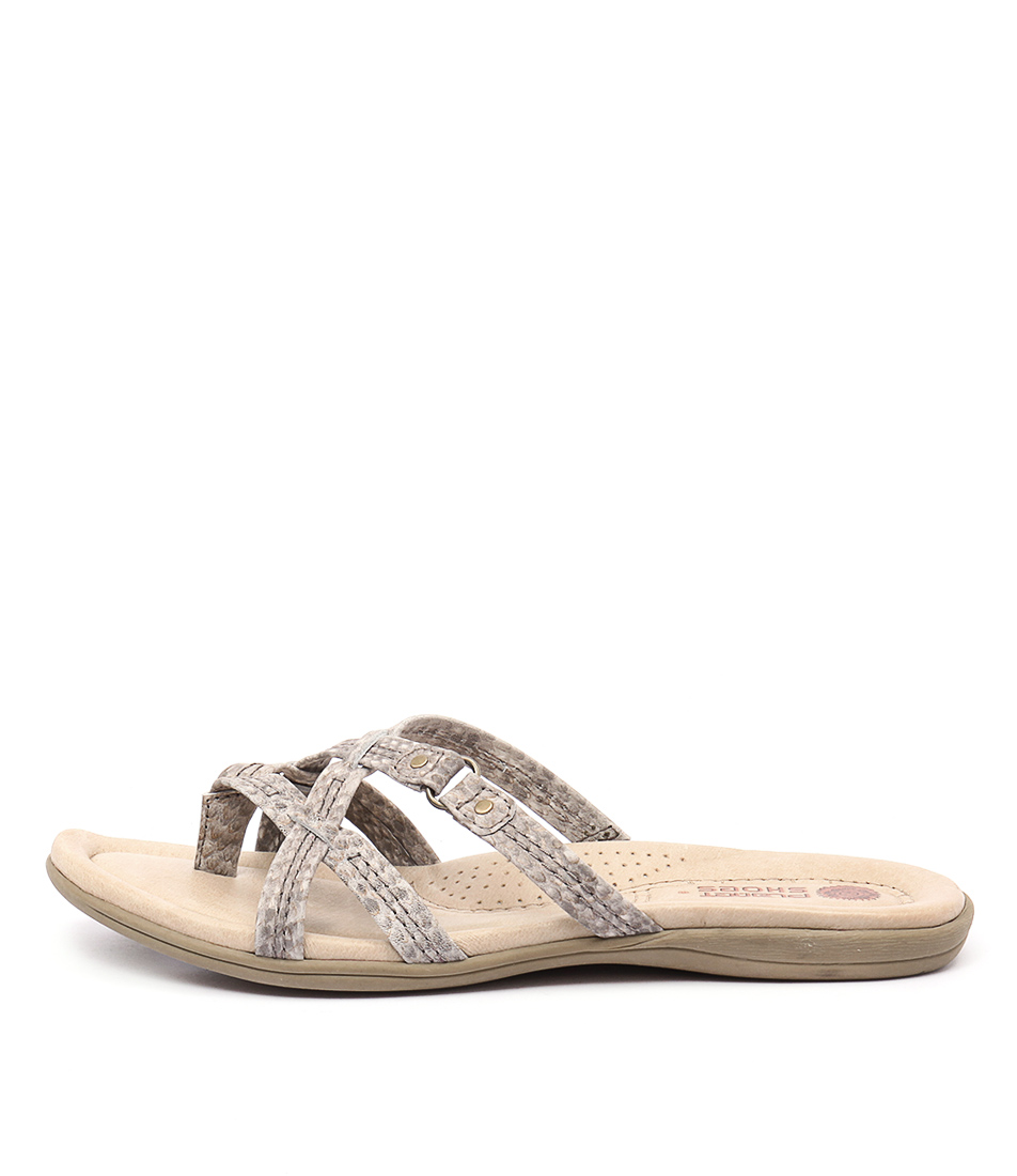 Planet Carla Pl Snake Casual Flat Sandals